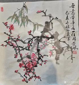 徐如茂国画作品《花鸟-梅花》价格800.00元