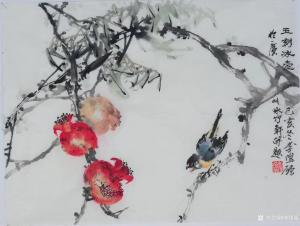 李伟强国画《花鸟-玉刻冰壶》