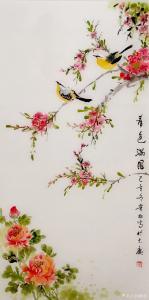 夏沁国画《春色满园》