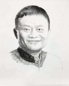 马国斌国画作品《人物肖像画-马云》议价