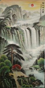 宁建华国画作品-《山水画-福地安居图》