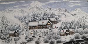 吉大华国画作品《雪韵》价格1000.00元