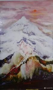刘烽油画作品-《元旦》