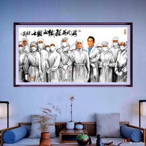 潘宁秋国画《时代英雄铁血战士》