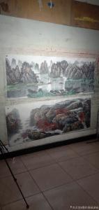 墨轩国画油画国画作品-《國画山水漓江之美》
