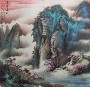 周顺生国画作品-《天来堂顺生◆春晖清韵》