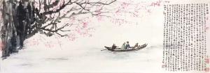 字画代理977805776国画作品-《宫廷画家叶赫那拉昱桐》