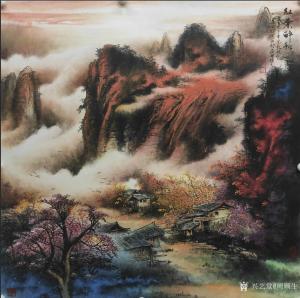 周顺生国画作品-《天来堂顺生◆红叶醉秋》