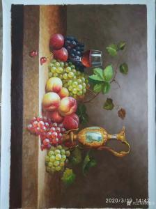 黄联合油画作品《静物写生-水果》价格2000.00元