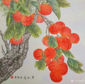 傅饶国画作品-《事事如意》