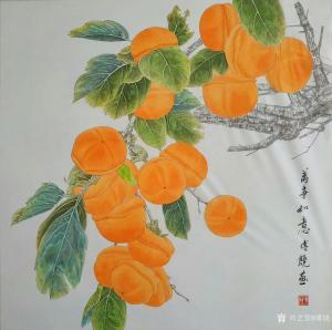 傅饶国画作品《花鸟-万事如意》价格800.00元