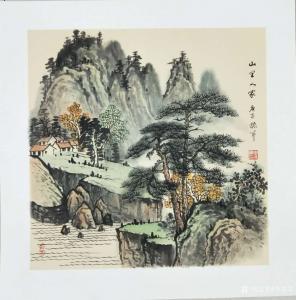 李振军国画作品《仿古山水(3)》价格480.00元