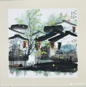 艺术品图片:艺术家李振军国画作品名称《山水-江南存疑》价格480.00 元