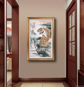 张国超国画作品-《王者雄风》