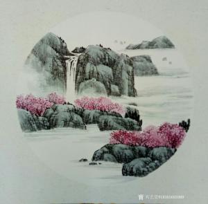 18365693989国画作品-《山水画小品》
