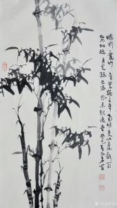 季乃仓国画作品《竹子》议价