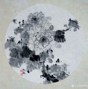 欧凯歌国画作品《水墨牡丹》议价