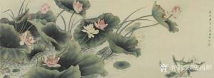 唐再辉国画作品《工笔花鸟-荷花1》议价