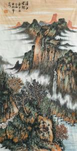 陈宏洲国画作品《山水-溪山云起图》议价