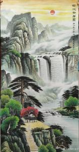 宁建华国画作品《山水画-福地安居图》价格1000.00元