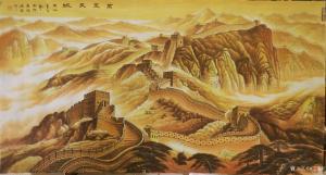 宁建华国画作品-《山水画-金长城》