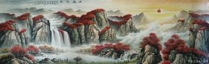 宁建华国画作品-《山水画-源远流长》