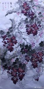卢俊良国画作品-《葡萄-葡香》