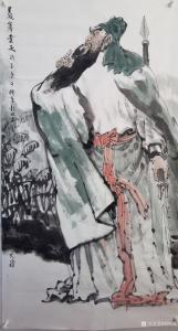 刘明礼国画作品《人物画-关羽义薄云天》议价