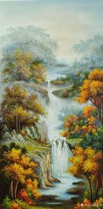 黄联合油画作品《黄联合油画高山流水》价格20000.00元