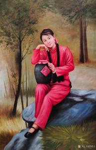 黄联合油画作品-《油画作品女儿红》