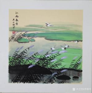 李振军国画作品-《山水画-江南春意》