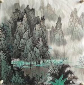 谷风国画作品《漓江山水2》价格600.00元