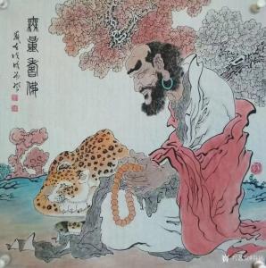 谷风国画作品《人物画-无量寿佛》价格800.00元