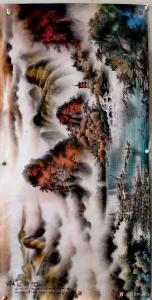 周顺生国画作品-《周顺生◆四尺叠彩金秋》