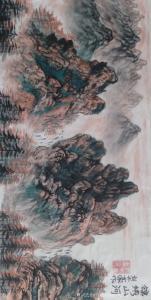 刘开豪国画作品-《锦绣山河》