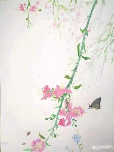 """王征明国画作品《水意画""""春之歌""""》议价"""