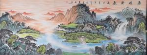 刘慧敏国画作品《源远流长》价格998.00元