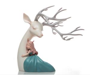 海蓝文玩杂项作品-《爱情鹿》