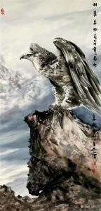 石川国画作品《鹰-羽翼生风》议价