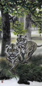 石川国画作品《虎-萌动》议价