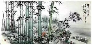 刘文生国画作品《竹-竹山文会图》议价