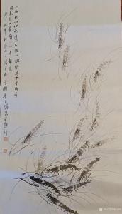 李玉凤国画作品《虾-一夜新雨池水清》议价