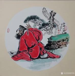 何学忠国画作品《钟馗-酒醉心明》议价