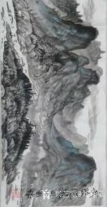 刘开豪国画作品-《武陵风光》