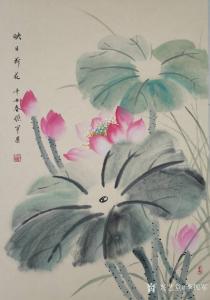 李振军国画作品《花鸟-映日荷花》价格500.00元