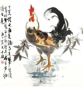 卢士杰国画作品《三更灯火五更鸡》价格1200.00元
