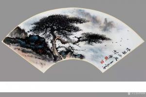 罗树辉国画作品《山水松树-将军风度》议价