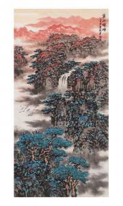 杨振华国画作品《黄山晓峰》价格80000.00元
