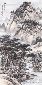 杨振华国画作品《松山幽居》价格80000.00元