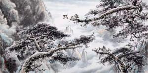 罗树辉国画作品《松猴-瑞祥》议价